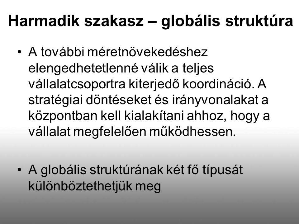 Harmadik szakasz – globális struktúra