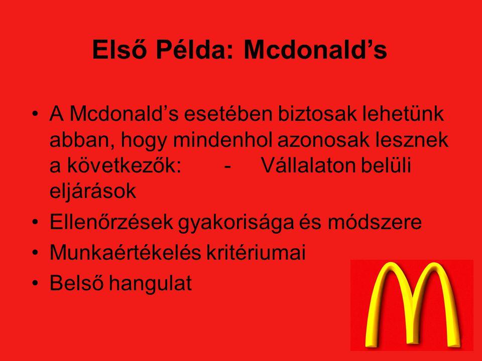 Első Példa: Mcdonald's