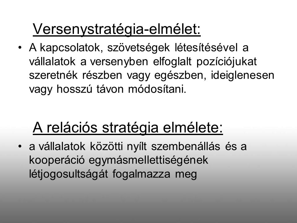 Versenystratégia-elmélet: