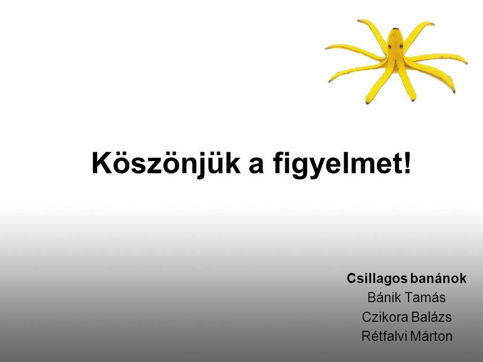 Csillagos banánok Bánik Tamás Czikora Balázs Rétfalvi Márton