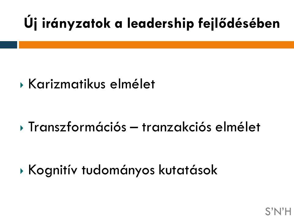 Új irányzatok a leadership fejlődésében