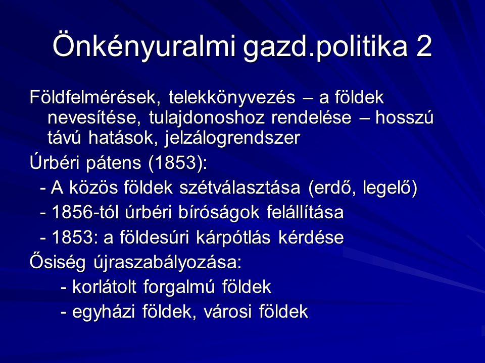 Önkényuralmi gazd.politika 2