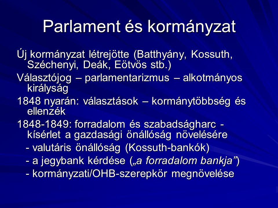 Parlament és kormányzat