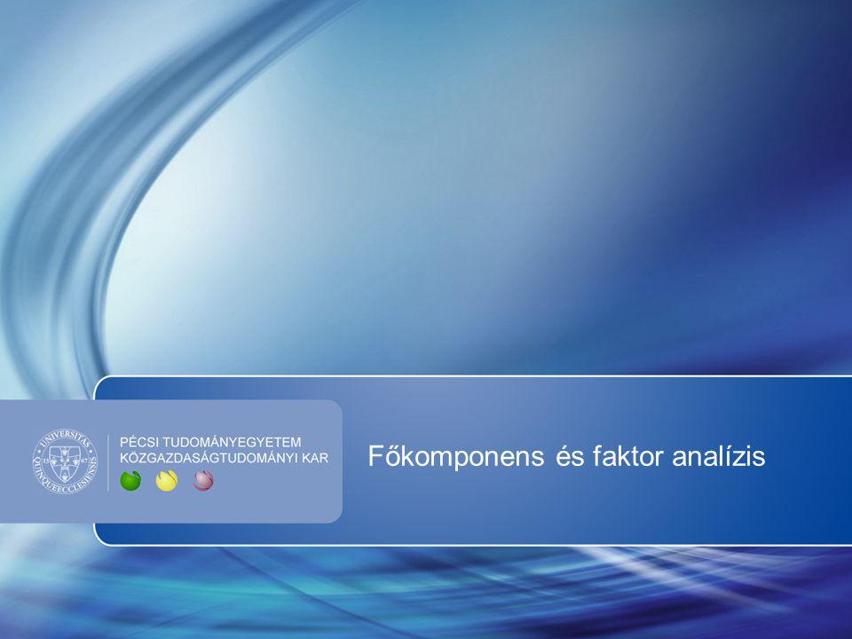 Főkomponens és faktor analízis