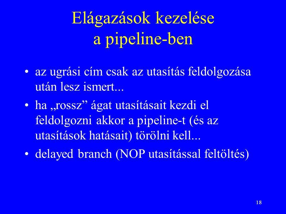 Elágazások kezelése a pipeline-ben