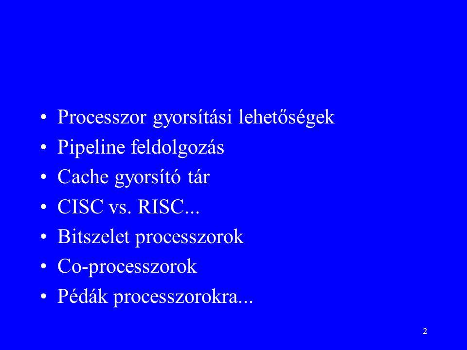 Processzor gyorsítási lehetőségek