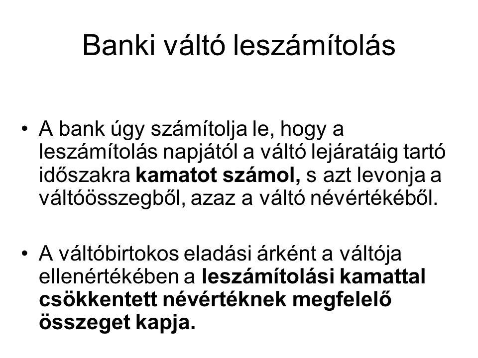 Banki váltó leszámítolás