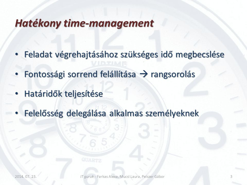 Hatékony time-management
