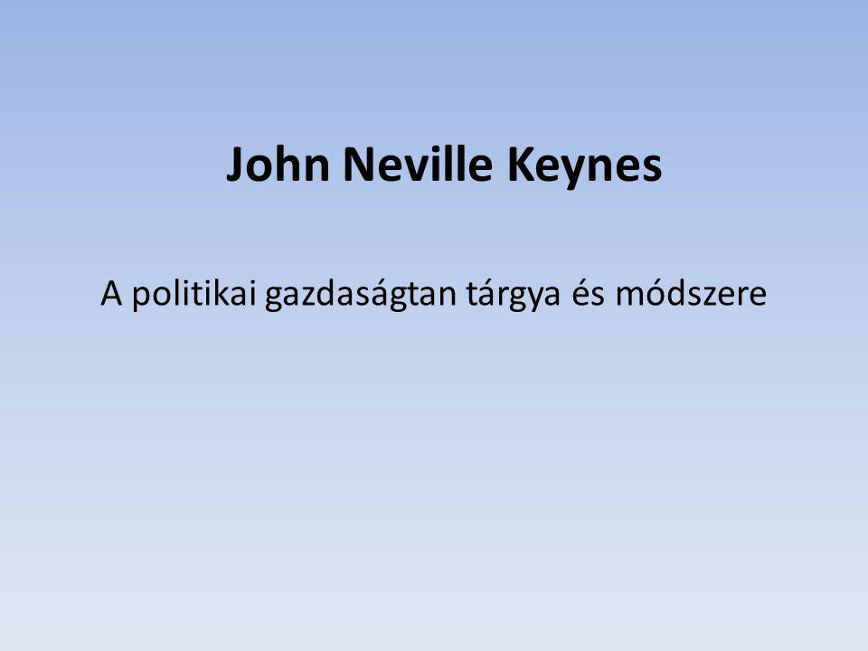 A politikai gazdaságtan tárgya és módszere