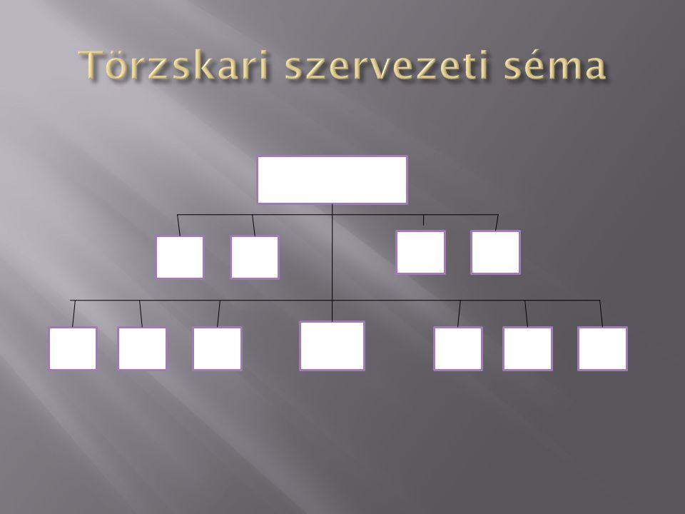 Törzskari szervezeti séma
