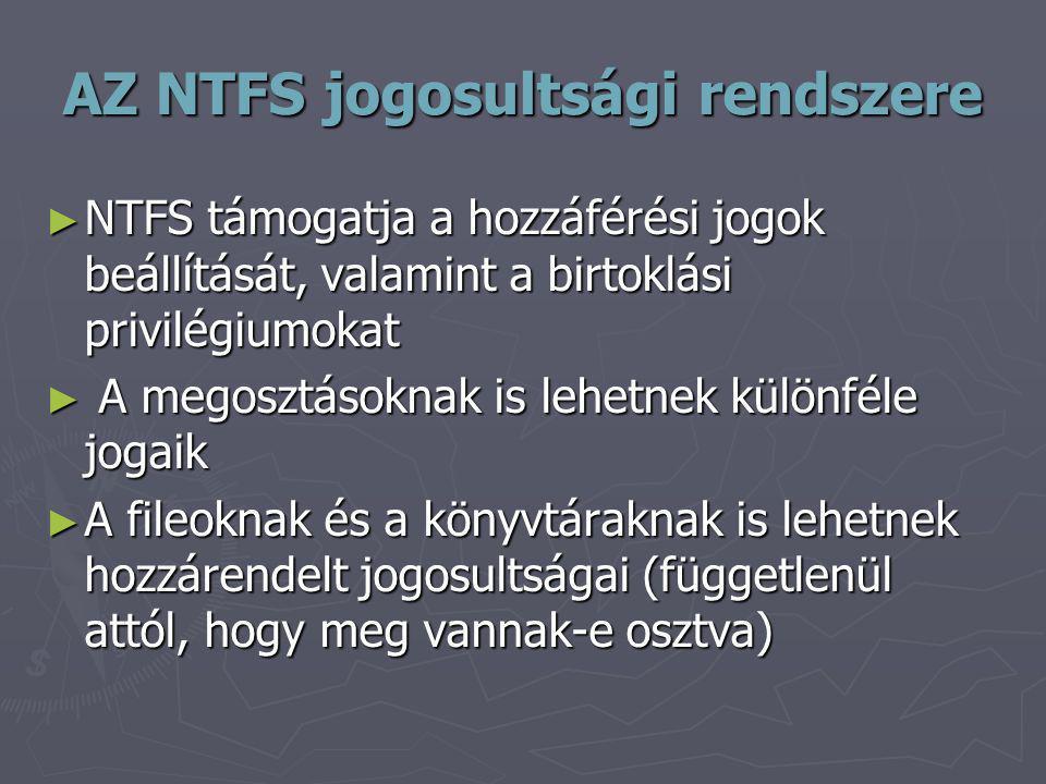 AZ NTFS jogosultsági rendszere