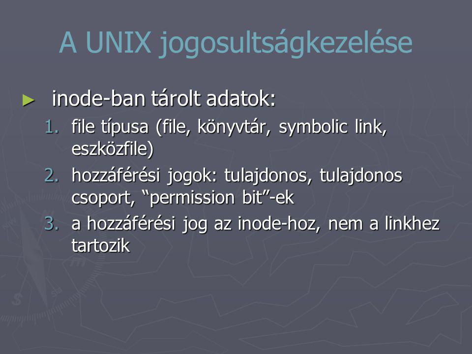 A UNIX jogosultságkezelése
