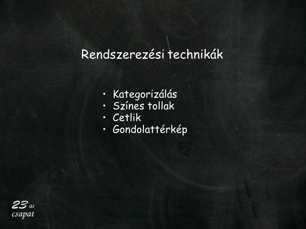 Rendszerezési technikák