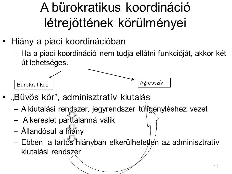 A bürokratikus koordináció létrejöttének körülményei