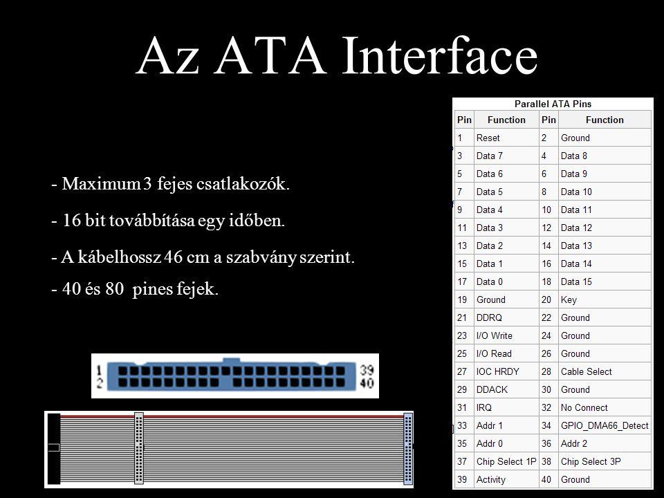 Az ATA Interface Maximum 3 fejes csatlakozók.