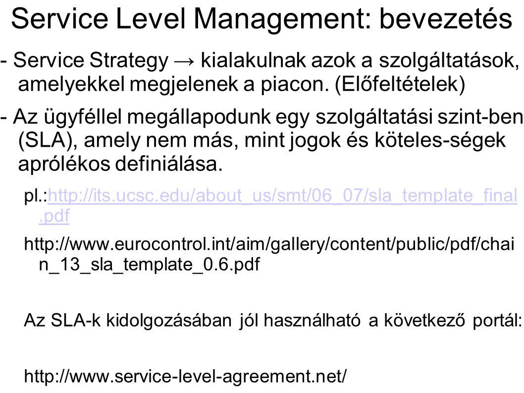 Service Level Management: bevezetés