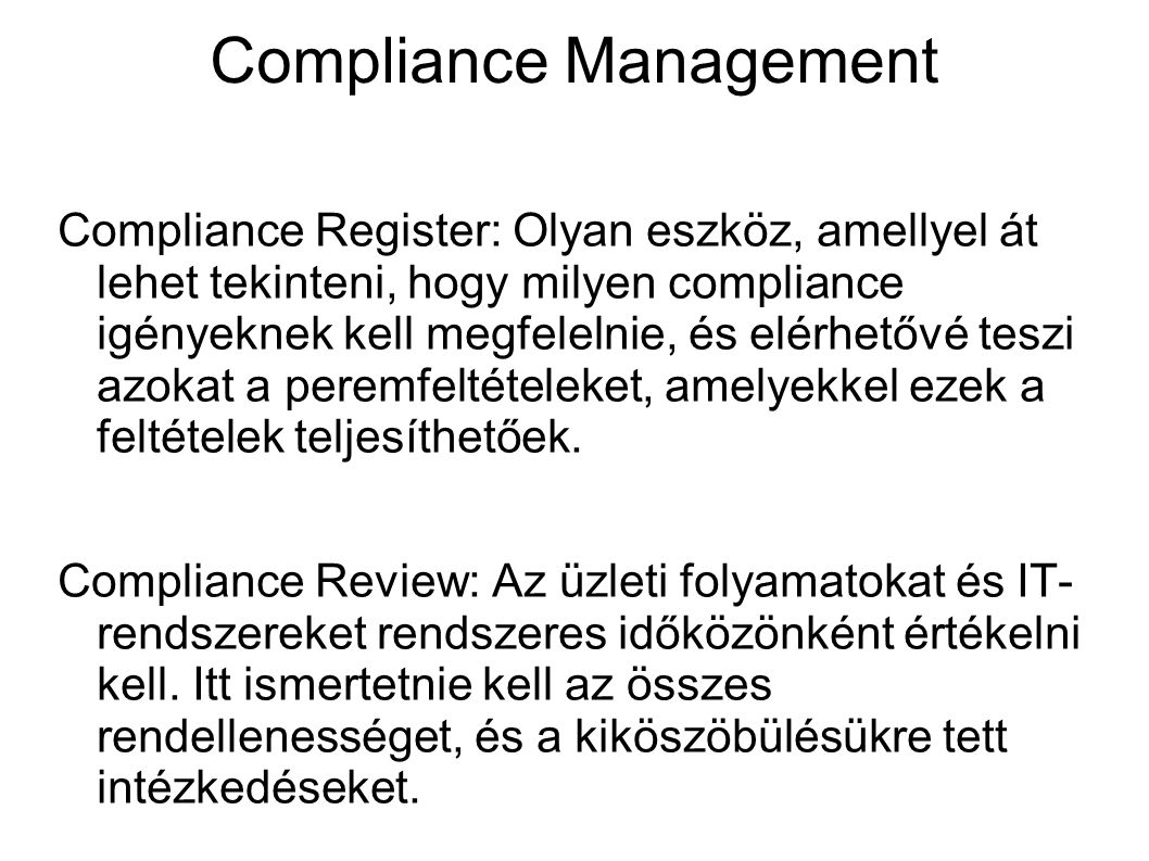 Compliance Management