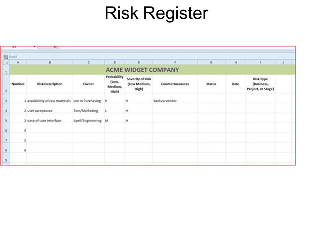 Risk Register