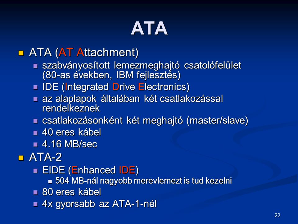 ATA ATA (AT Attachment) ATA-2