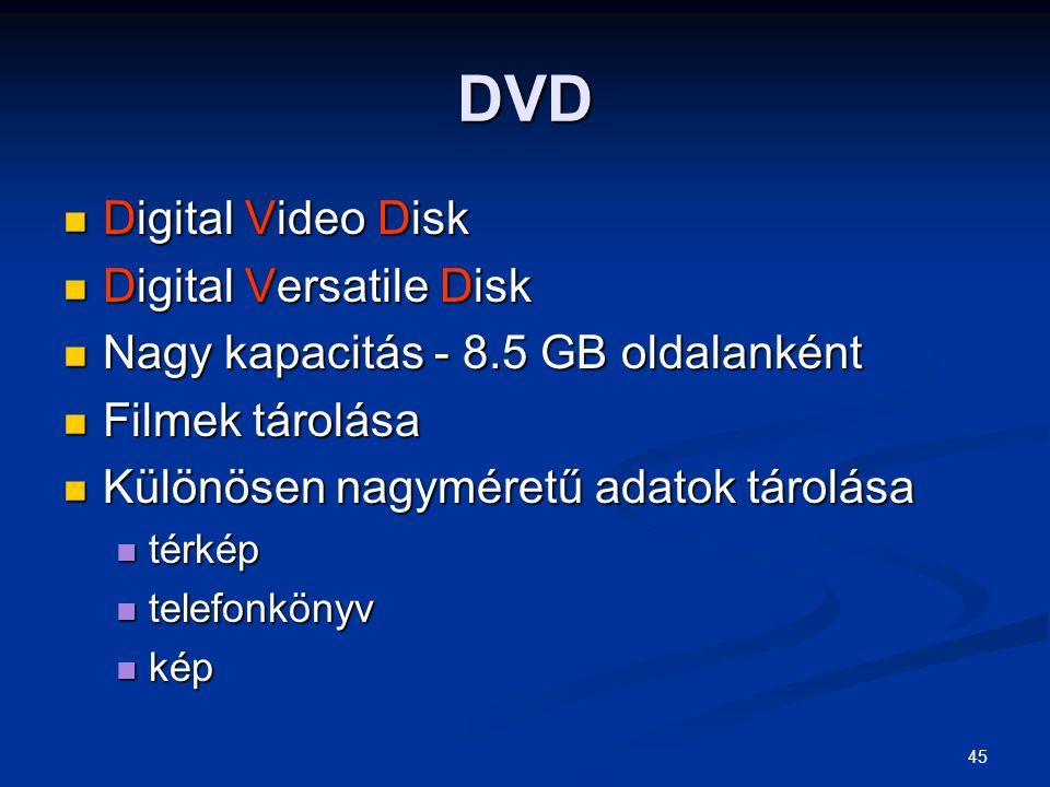 DVD Digital Video Disk Digital Versatile Disk