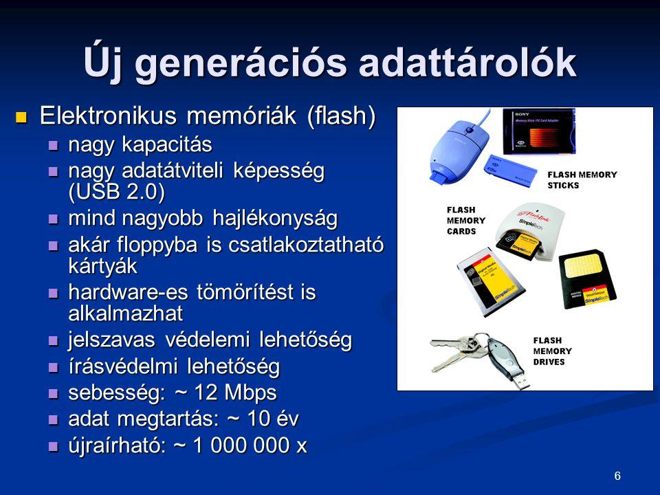 Új generációs adattárolók