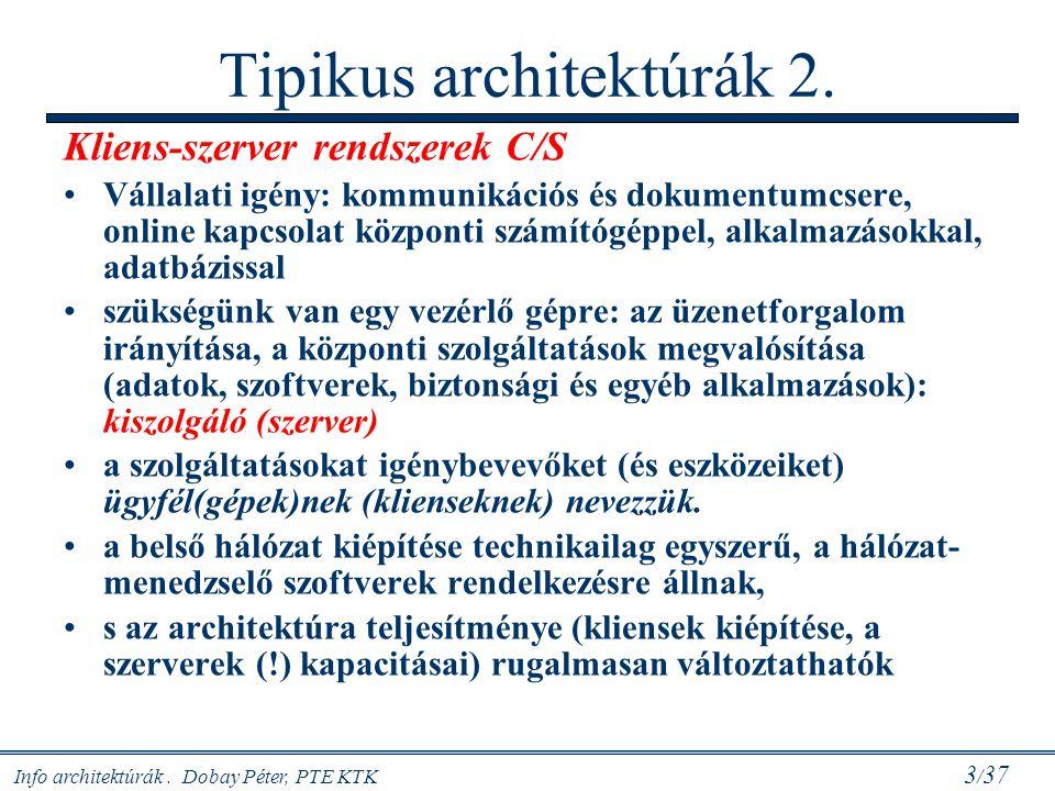 Tipikus architektúrák 2.
