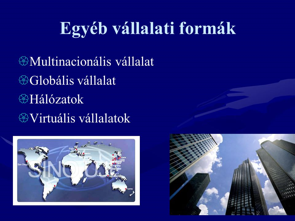 Egyéb vállalati formák