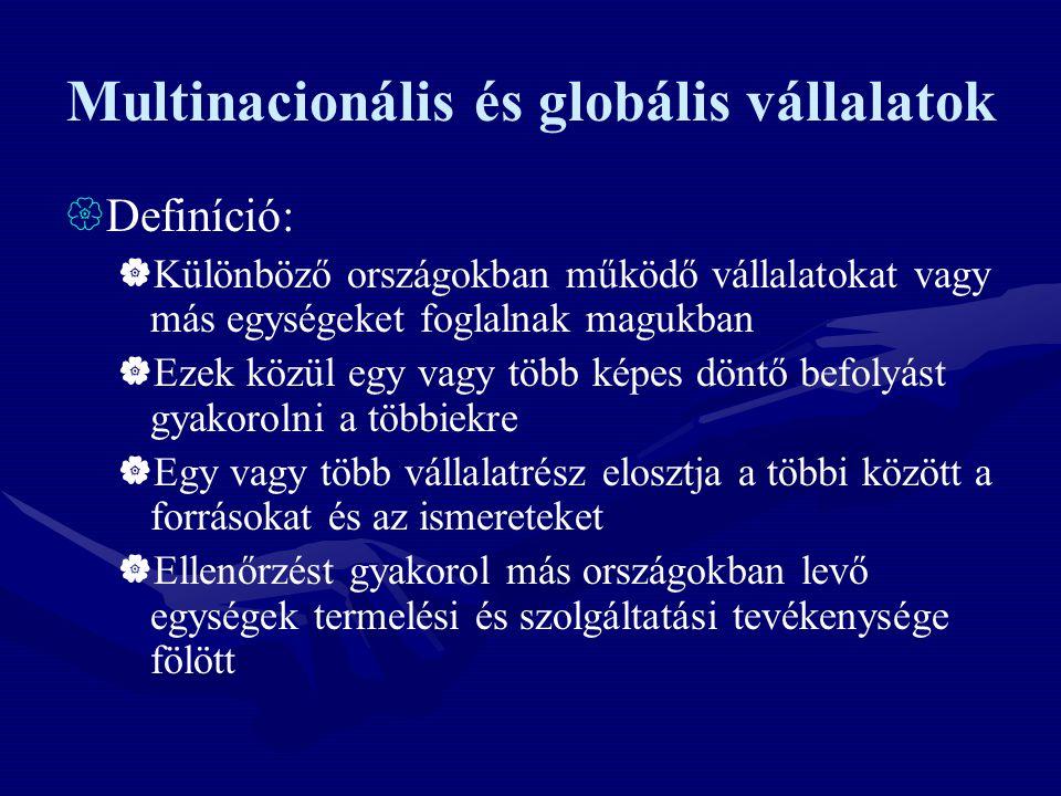 Multinacionális és globális vállalatok