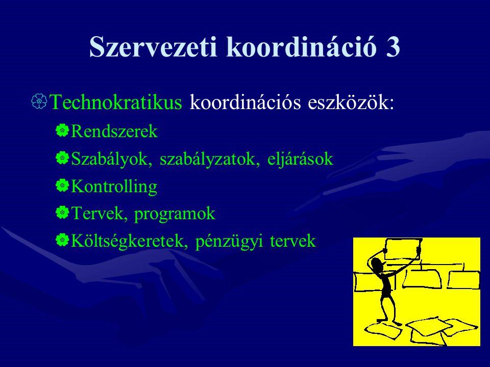 Szervezeti koordináció 3