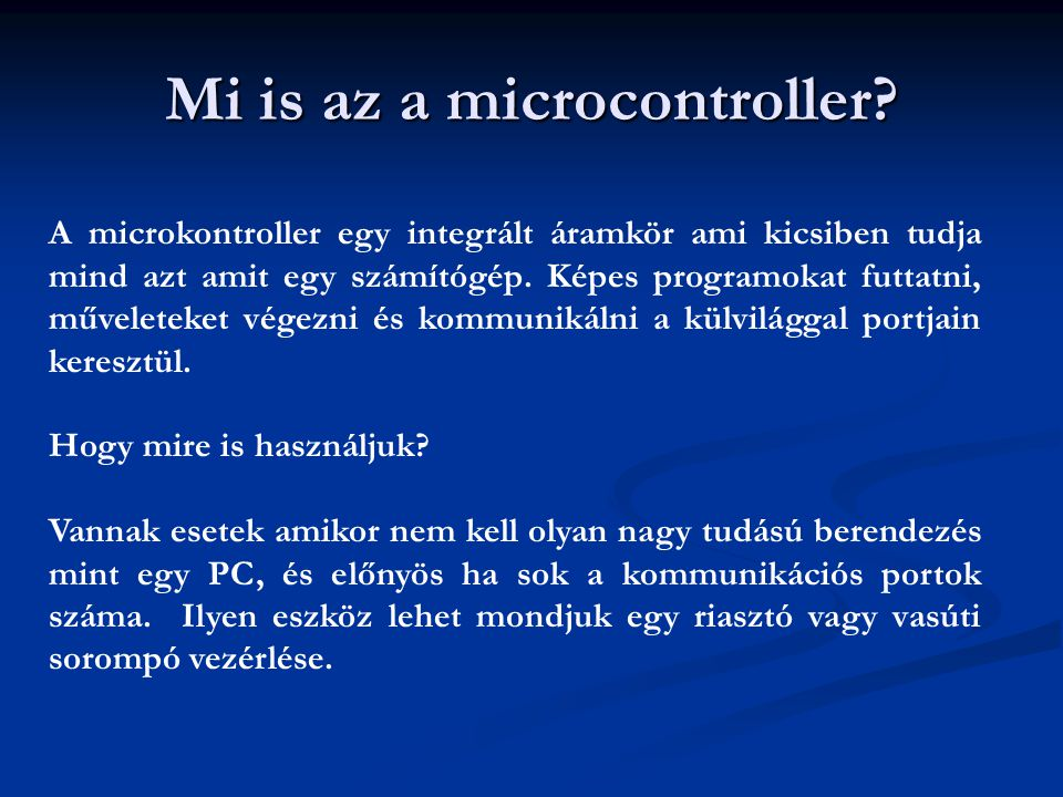 Mi is az a microcontroller