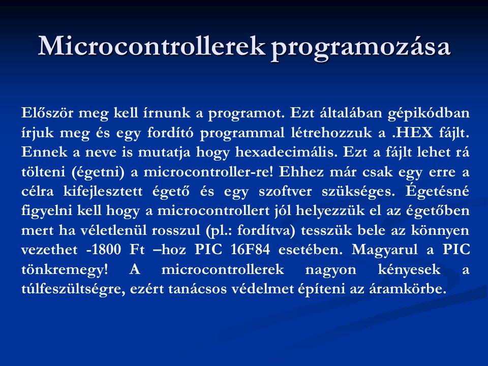 Microcontrollerek programozása