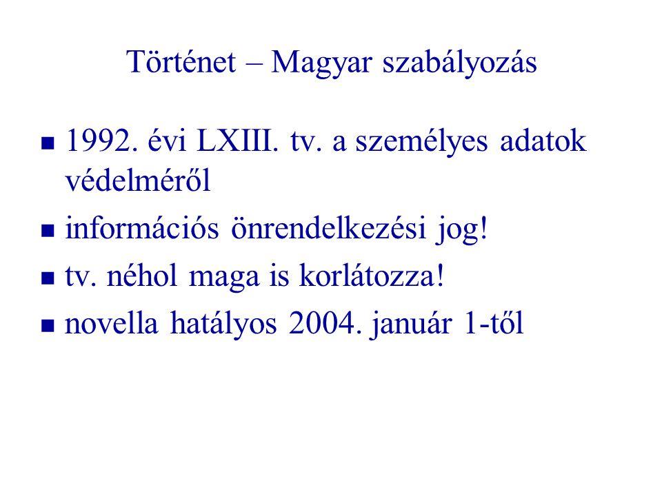 Történet – Magyar szabályozás