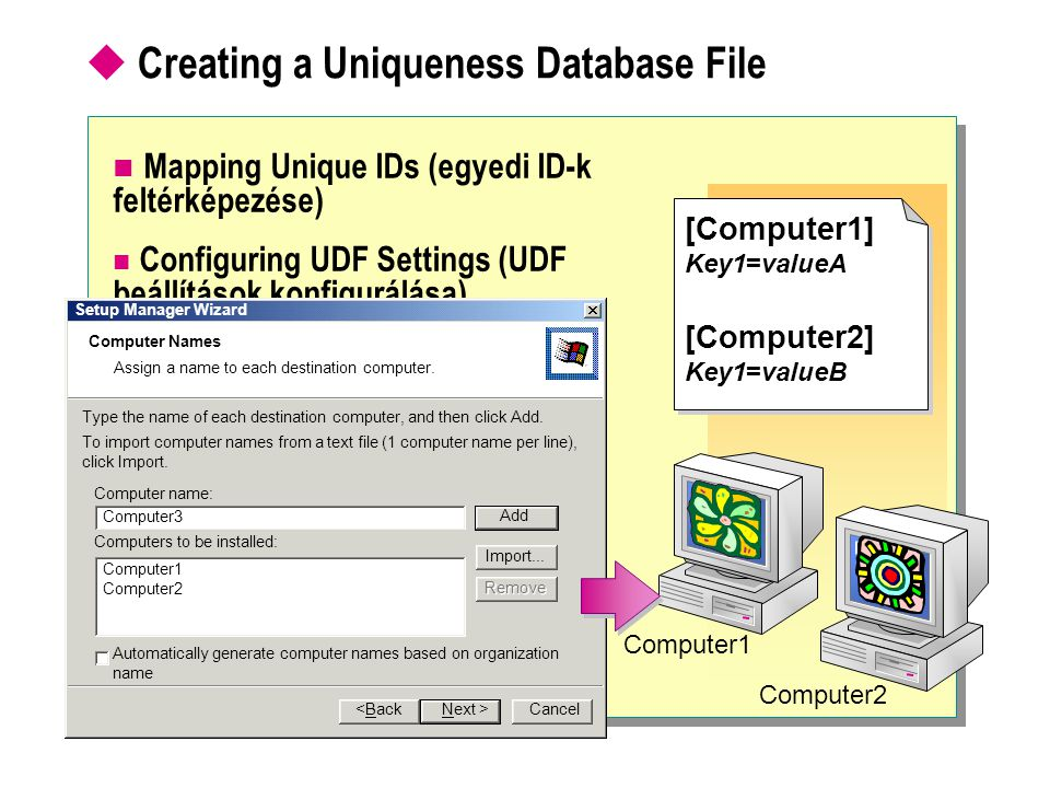 Creating a Uniqueness Database File