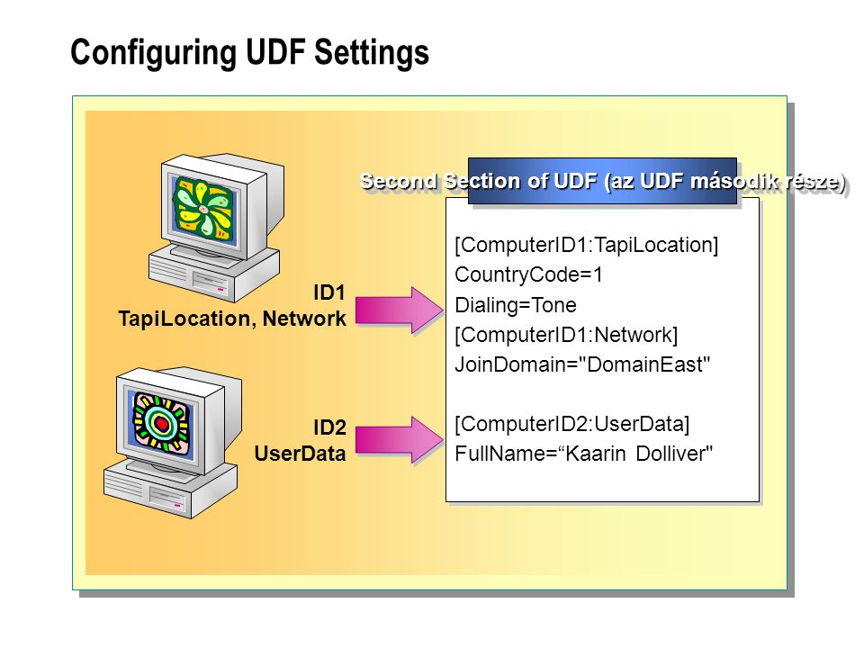 Configuring UDF Settings