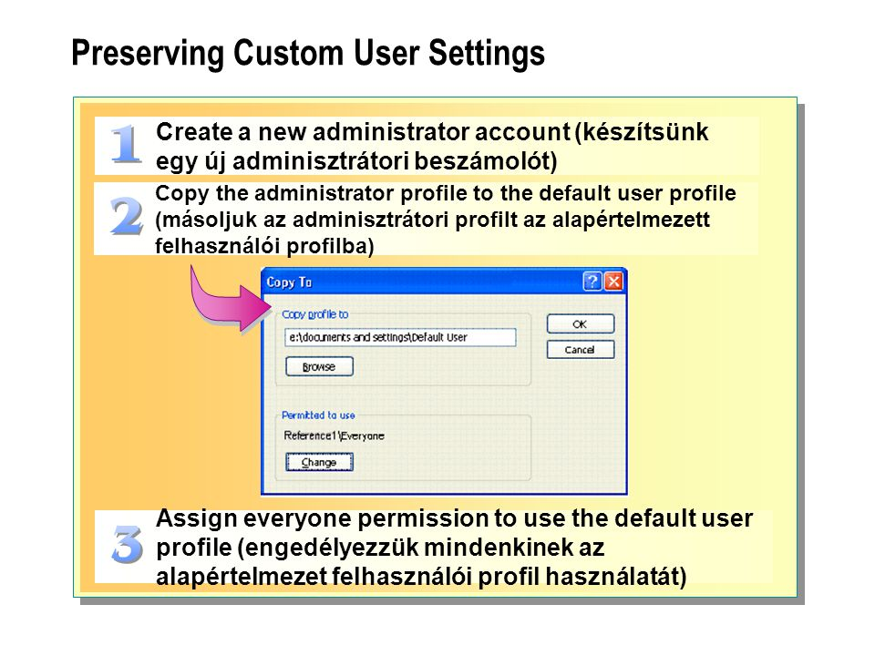 Preserving Custom User Settings