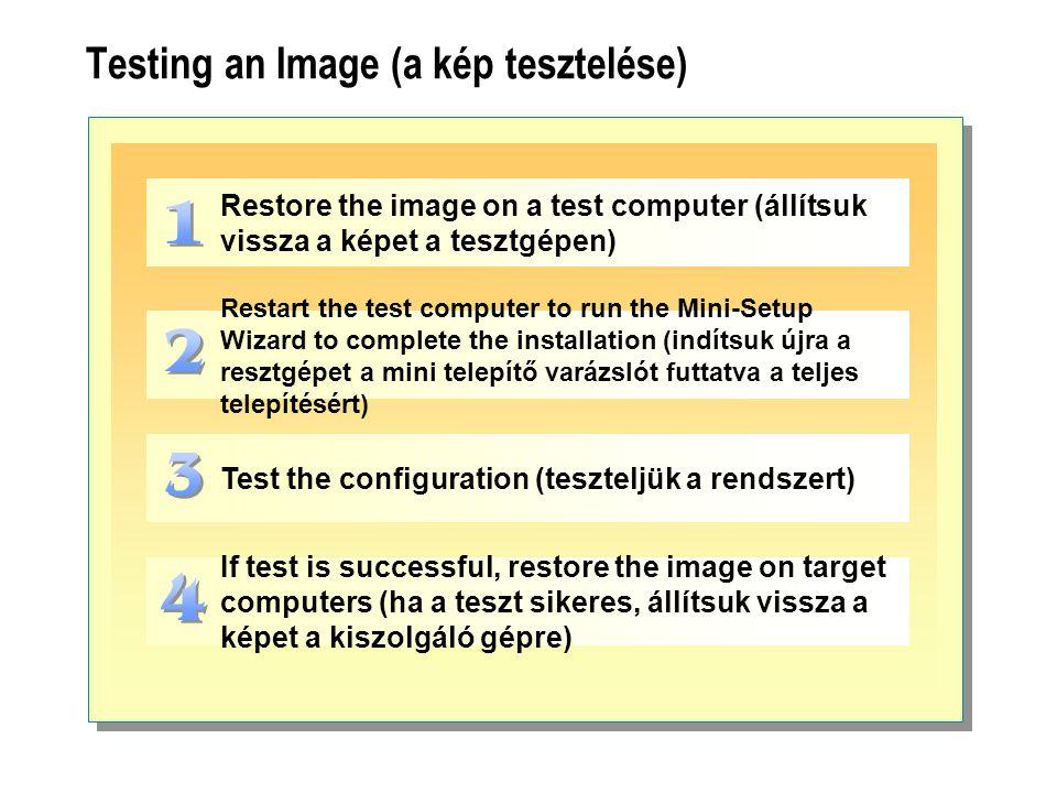 Testing an Image (a kép tesztelése)