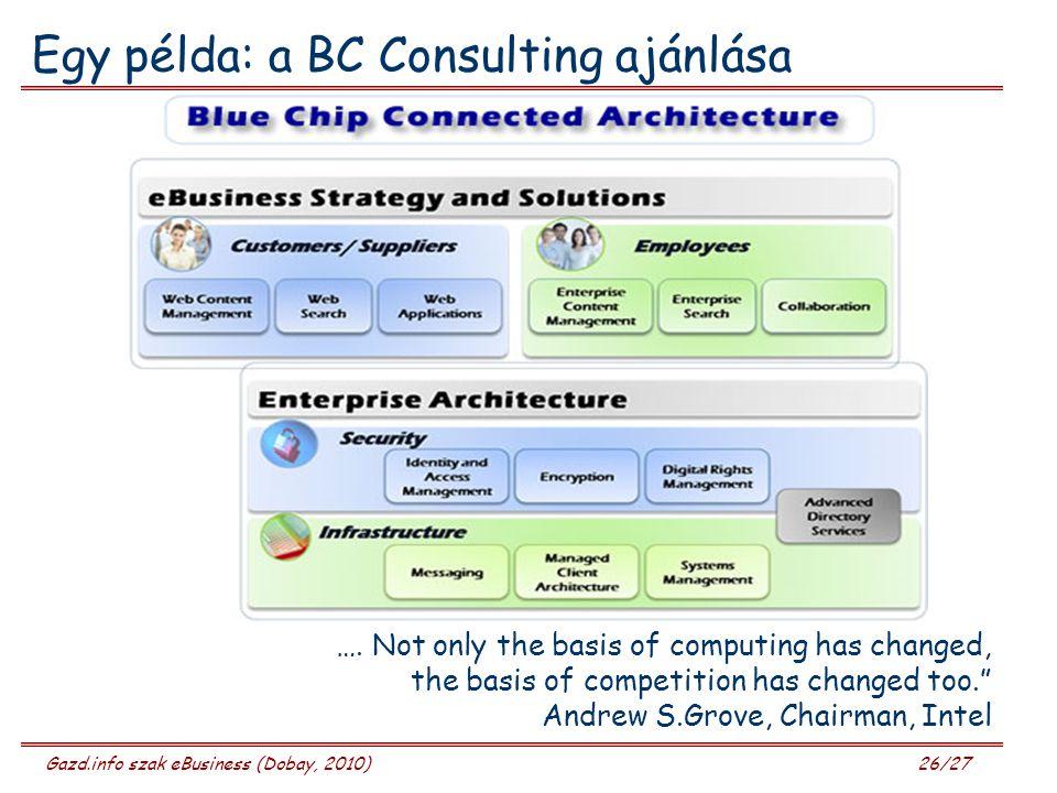 Egy példa: a BC Consulting ajánlása