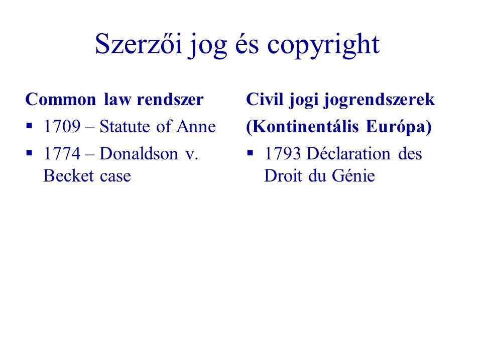 Szerzői jog és copyright