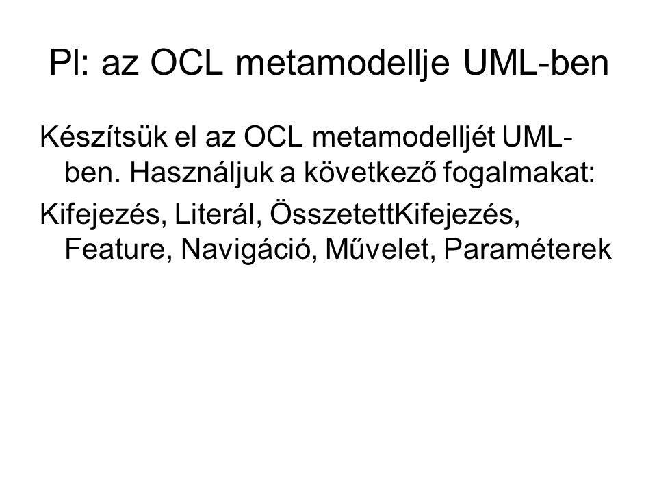 Pl: az OCL metamodellje UML-ben