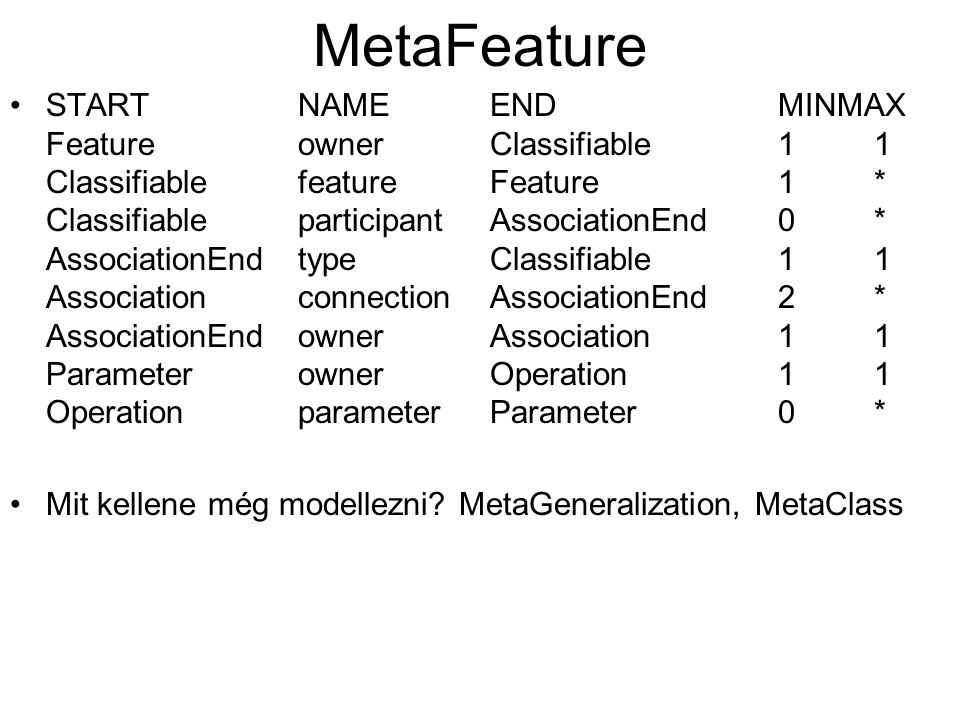 MetaFeature