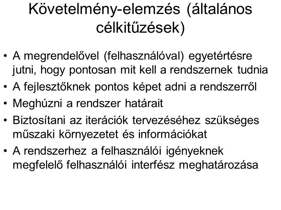 Követelmény-elemzés (általános célkitűzések)