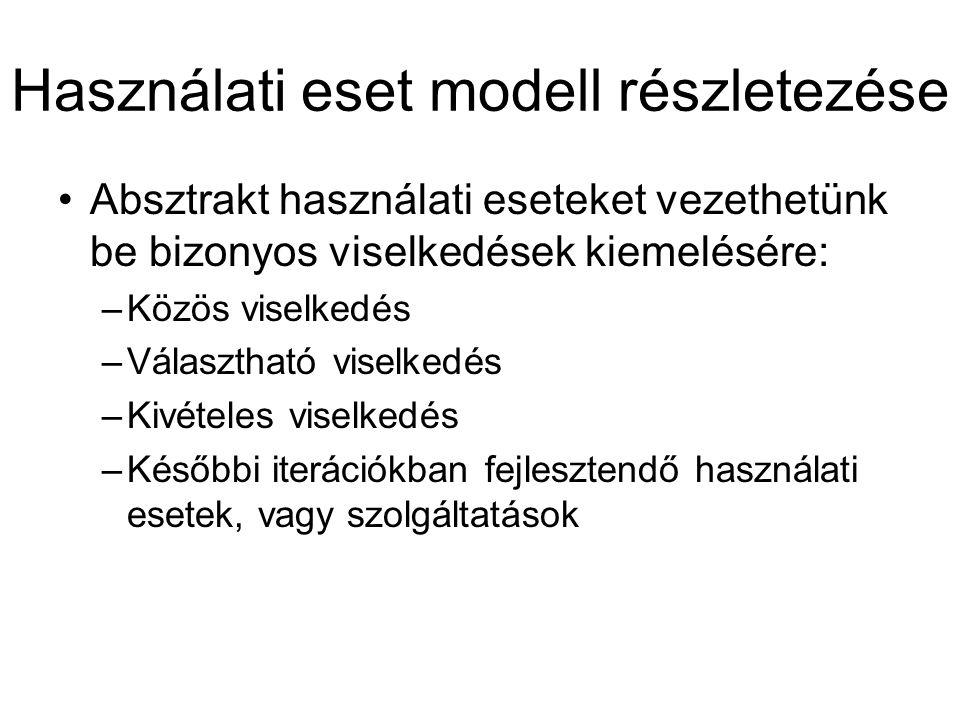 Használati eset modell részletezése