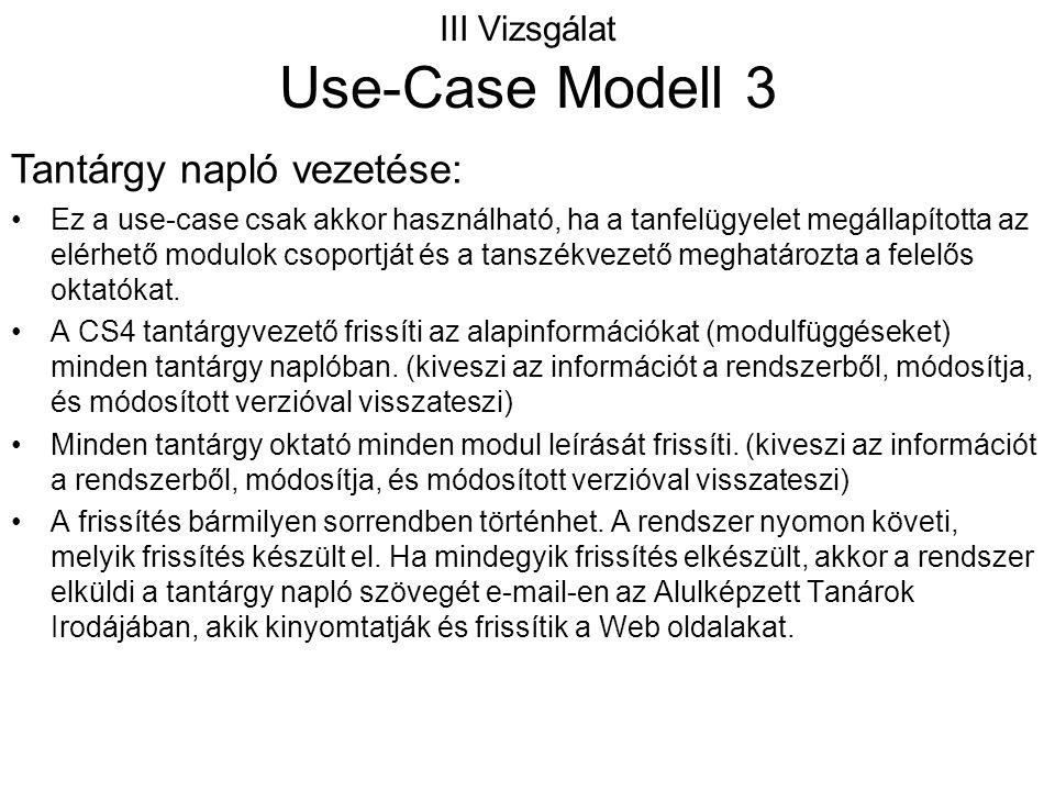 III Vizsgálat Use-Case Modell 3