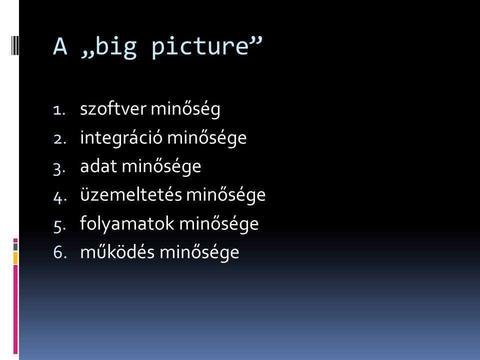 """A """"big picture szoftver minőség integráció minősége adat minősége"""