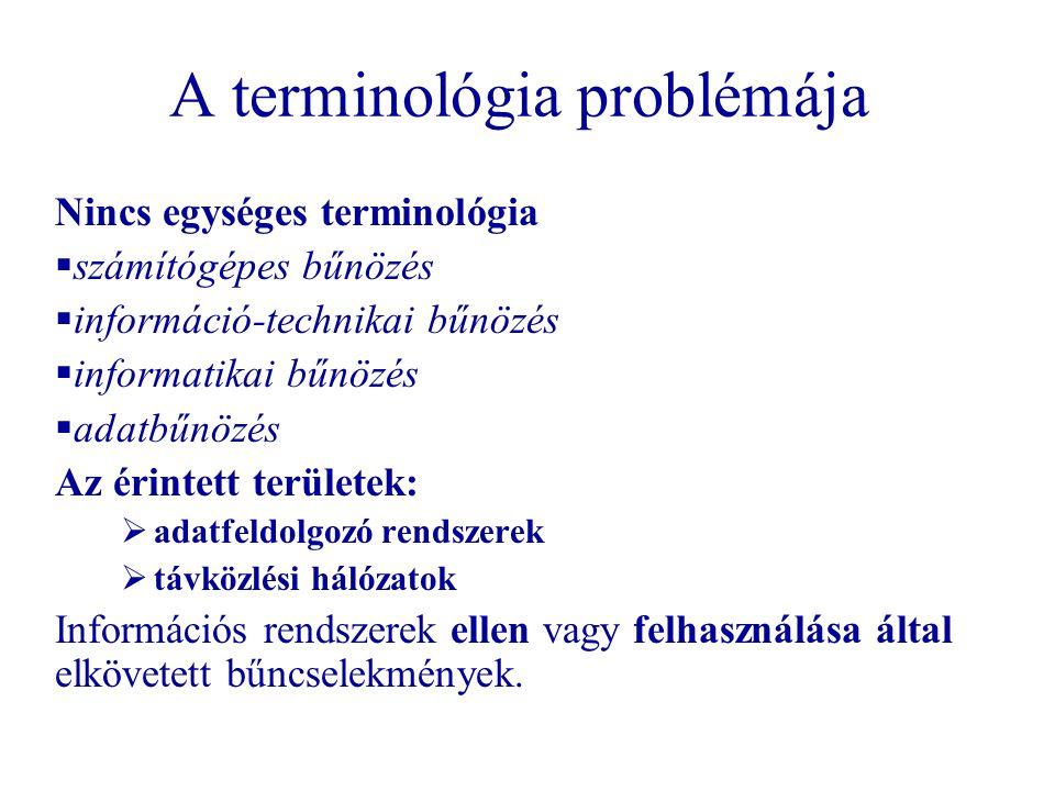 A terminológia problémája