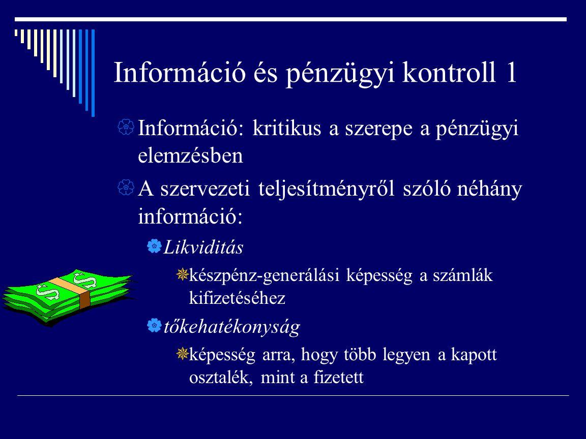 Információ és pénzügyi kontroll 1
