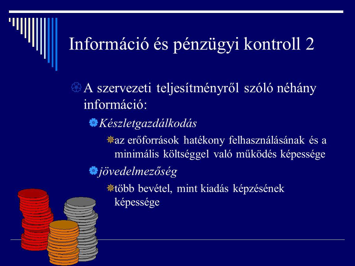 Információ és pénzügyi kontroll 2