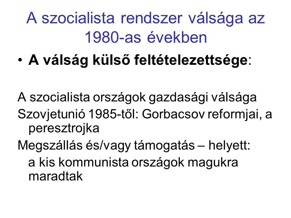 A szocialista rendszer válsága az 1980-as években