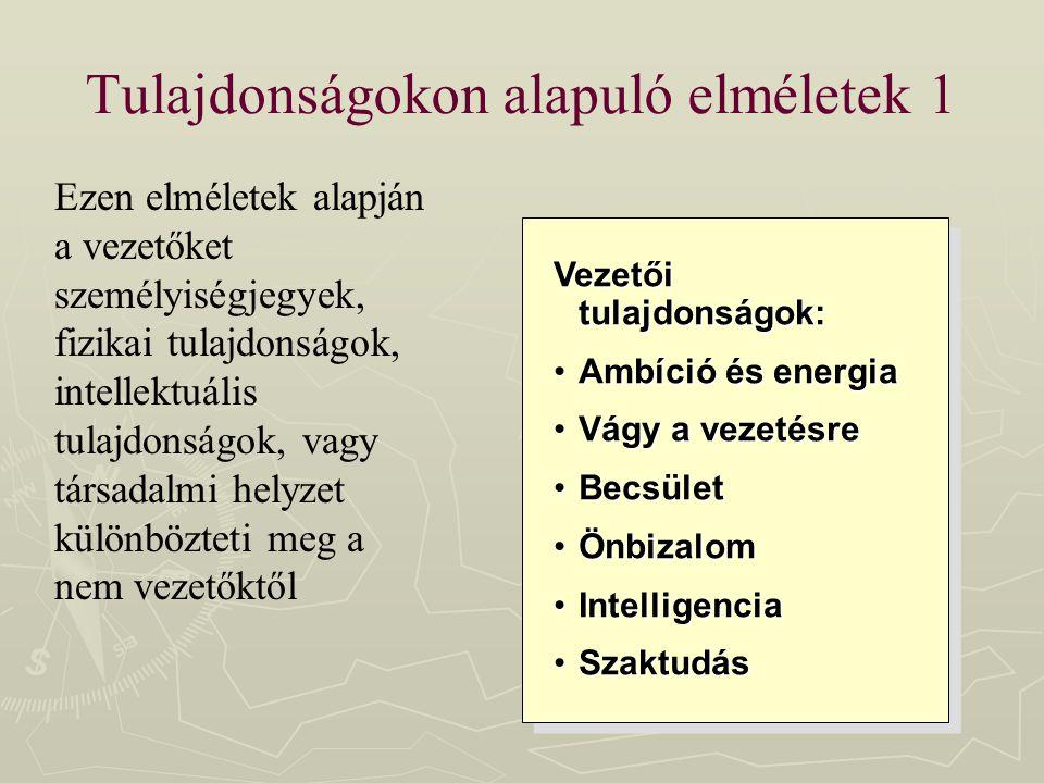 Tulajdonságokon alapuló elméletek 1