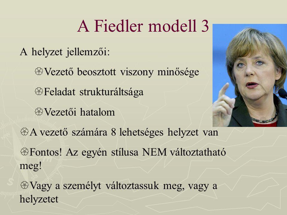 A Fiedler modell 3 A helyzet jellemzői: